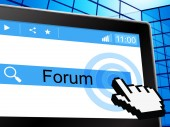Forums Forum Shows Social Media And Conversation — Stock Photo