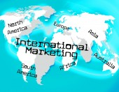 International Marketing Indicates Across The Globe And Globalisation — Stock Photo