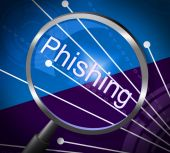 Phishing Fraud Represents Rip Off And Cheat — Stock Photo