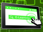 E Learning Shows World Wide Web And College — Stock Photo
