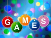 Games Play Represents Recreational Gaming And Entertainment — Foto de Stock