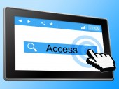 Access Online Represents World Wide Web And Accessible — Stock Photo