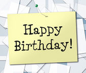 Happy Birthday Represents Greetings Celebrating And Congratulating — Stock Photo