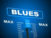 Blues Music Represents Sound Track And Amplifier — Stock Photo