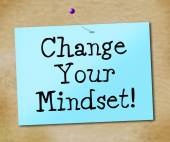 Change Your Mindset Represents Think About It And Reflect — Φωτογραφία Αρχείου