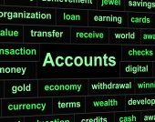 Accounts Accounting Means Balancing The Books And Accountant — Stock Photo