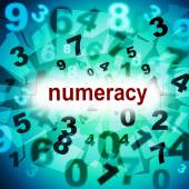 Numeracy Education Means One Two Three And Educated — Stock Photo
