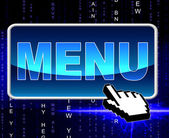 Online Menu Represents World Wide Web And Dining — Stock Photo