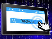 Online Backup Represents World Wide Web And Archives — Stock Photo