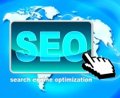 Seo Button Represents World Wide Web And Optimization — Stock Photo