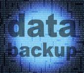 Backup Data Means File Transfer And Archives — Stock Photo