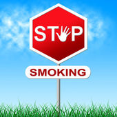 No Smoking Represents Warning Sign And Danger — Stock Photo