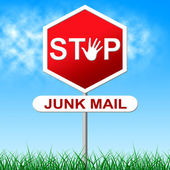 Stop Junk Mail Indicates Spamming Spam And Unwanted — Stock Photo