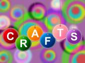 Craft Crafts Indicates Artistic Designing And Drawing — ストック写真
