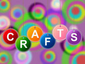Craft Crafts Indicates Artistic Designing And Drawing — Stock fotografie