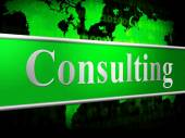 Consulting Consult Means Seek Information And Advice — Photo