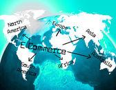 World E Commerce Indicates Ecommerce E-Commerce And Company — Stock Photo