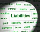 Owe Liabilities Means Bad Debt And Arrears — Stock Photo