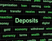 Deposits Deposit Represents Part Payment And Advance — Stock Photo
