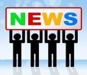 News Media Represents Headlines Radios And Medium — Stock Photo