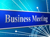 Meetings Business Shows Gathering Assembly And Commercial — Foto Stock