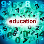 Education Educate Means Schooling Training And Develop — Stock Photo