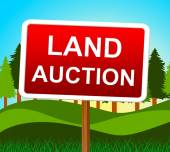 Land Auction Shows Winning Bid And Acres — Stock Photo