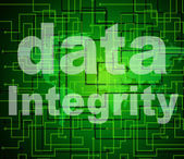 Integrity Data Means Virtuous Information And Honesty — Stock Photo