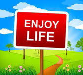 Enjoy Life Indicates Jubilant Fun And Happiness — Stock Photo