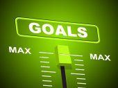 Goals Max Shows Upper Limit And Maximum — Stock Photo