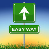 Easy Way Indicates Uncomplicated Direction And Effortless — Stock Photo