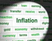 Finance Inflation Represents Economic Profit And Increase — Stock Photo