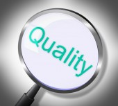 Magnifier Quality Means Approval Check And Satisfaction — Stock Photo