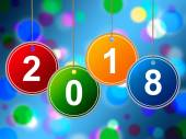 New Year Shows Two Thosand Eighteen And Annual — Stock Photo