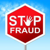 Stop Fraud Means Rip Off And Con — Stock Photo