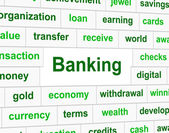 Finances Banking Indicates Investment Figures And Accounting — Foto Stock