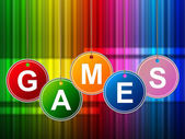 Games Play Means Gamer Leisure And Entertainment — Foto de Stock