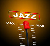 Music Jazz Means Sound Track And Audio — Stock Photo