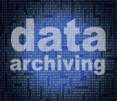 Data Archiving Means Catalog Catalogue And Bytes — Stock Photo