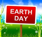 Earth Day Represents Go Green And Conservation — Stock Photo