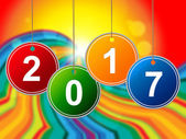 New Year Means Two Thosand Seventeen And Celebrate — Stock Photo