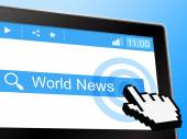 World News Shows Globally Newsletter And Worldly — Stock Photo