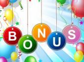 Bonus Reward Means For Free And Award — Stockfoto