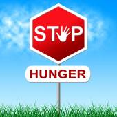 Stop Hunger Represents Lack Of Food And Caution — Stock Photo