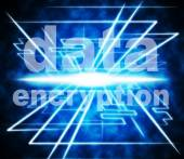 Data Encryption Means Information Privacy And Private — Stock Photo
