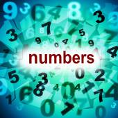 Mathematics Counting Shows One Two Three And Learn — Stock Photo