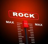 Rock And Roll Indicates Acoustic Sound And Audio — Stock Photo