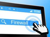 Online Firewall Shows World Wide Web And Defence — Zdjęcie stockowe