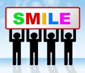 Smile Joy Represents Happiness Emotions And Happy — Stock Photo