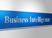 Business Intelligence Shows Intellectual Capacity And Acumen — Stock Photo